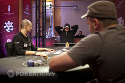 Shawn Buchanan mulles over the Grinder's all in bet.
