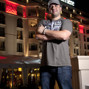 Michael Mizrachi out side the Majestic Barrierer