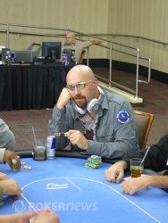 Frank Wiese chips up but still less than starting stack.