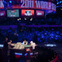 The WSOP Main Event Final Table in the Penn and Teller theater