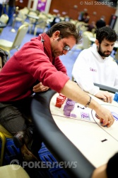 Charalampos Kapernopoulos is our chip leader