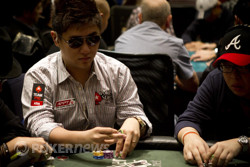 Bryan Huang will return on Day 2 with a huge amount of chips.