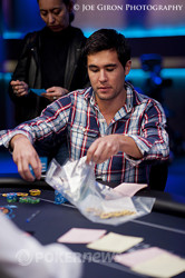Galen Hall bagging up heaps
