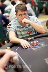 Chris Moneymaker is back above starting stack.