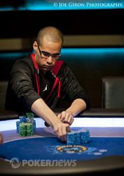 Anthony Gregg raking in the double-up chips