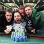 Champion Daniele Nestola and friends