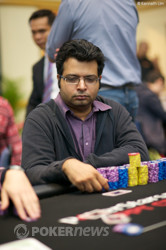 Day 2 chipleader, Amit Varma