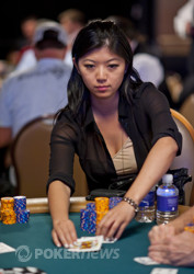 Xuan Liu - chip leader with 23 left