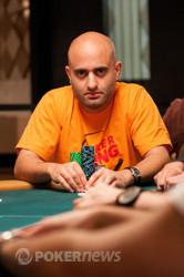 Joe Tehan - the Day 1 chip leader