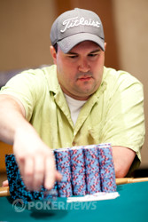 Chuck Tonne leads the field on the march to the final table.