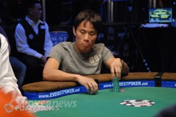 Terrence Chan at the 2010 $1,500 Limit Hold'em final table.