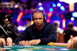 Phil Ivey in action on Day 1.