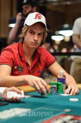 Viktor Blom is playing in his first WSOP in Vegas.