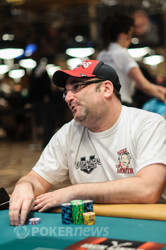 Mike Matusow is grinding his short stack.