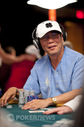 Chau Giang third in chips