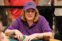 Pokerkat in her customary purple attire.