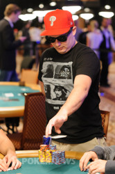 Paul Volpe doubles through Deeb