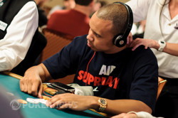 Phil Ivey on Day 1 of Event 24