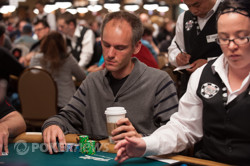Allen Cunningham will return on Day 2 with a healthy stack of 55,200.