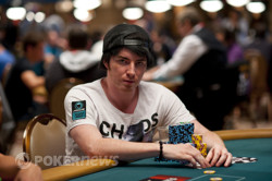 Jake Cody - one of the bigger stacks going into Day 2.