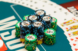 All the players will be trying to accumulate lots of chips tonight
