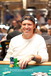 Day 1 chip leader, Layne Flack