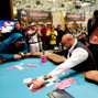 Marco Johnson and Ronnie Bardah during the last hand