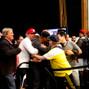 Ronnie Bardah's rail celebrate the win
