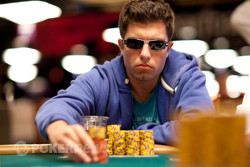 Day 2 chip leader Joseph Chaplin - looking for his first gold bracelet.