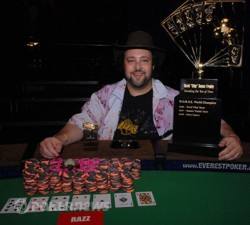 David Bach after winning the Poker Player's Championship in 2009.