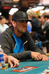 Ronnie Bardah doubles on one of the last hands of the night.
