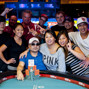 Dung Nguyen celebrates with friends after winning his WSOP Gold Bracelet