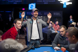 The elimination of Tom Dwan and Daniel Negreanu