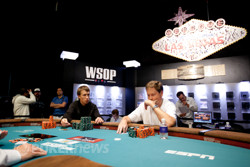 Vladimir Mefodichev and Neil Willerson Playing Heads Up for the Braclet
