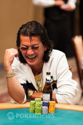 Scotty Nguyen is still in contention here on Day 2