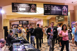 Main Event players on their way to the Amazon Room