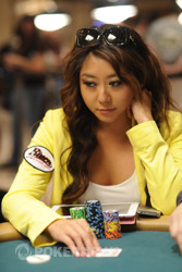 Maria Ho in action during Day 1