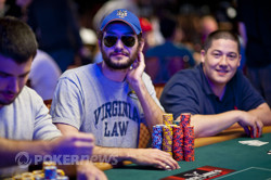 Leo Wolpert doubled with Ben Yu's encouragement from the rail.