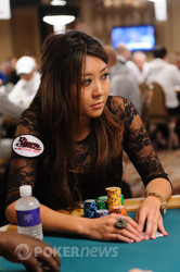 Maria Ho gained chips to play with