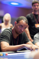 Phil Ivey on Day 1.