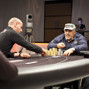 Roger Hairabedian heads up with Ville Mattila