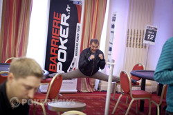 Litvinov from the 2011 WSOP Europe performing his signature move