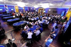 The tournament room here at EPT Sanremo
