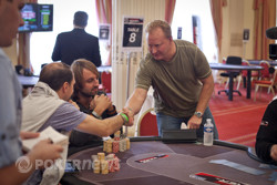 Steve Dannenmann busts out in 12th place.