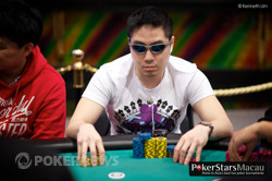 Chip leader Andrew Gaw