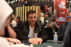 Joe Hachem among the leaders (Photo: Heath Chick, PokerAsiaPacific)