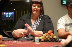 ANZPT Auckland Day 1a Chip Leader, Angie Fitzgerald