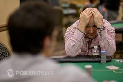 Vince Baldassano reacts to the all-in river shove by Chris Klodnicki (foreground)