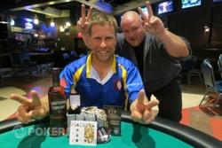 Mark Bonsack won Event #6 $365 Limit Omaha 8 or Better. Photo courtesy of the WSOP.