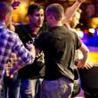 Trevor Pope is mobbed by his friends after winning the WSOP gold bracelet in event 02.